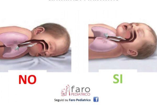 Rigurgito notturno: in che posizione mettere il neonato durante il sonno?