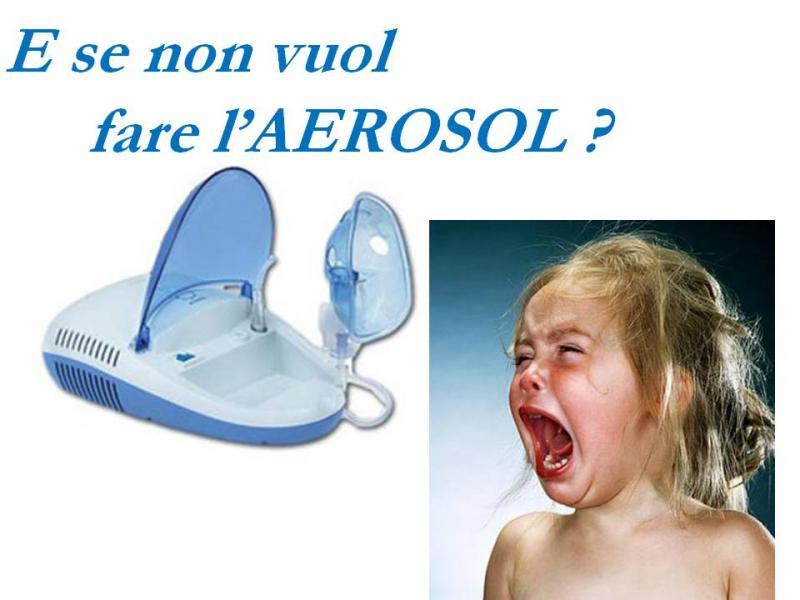 Come agire se il bambino non vuole fare l'aerosol?