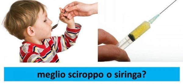 Bambini e antibiotici: meglio siringa o sciroppo in bronchite e polmonite?