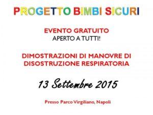 Presentazione Progetto Bimbi Sicuri – Napoli – 13/09/15
